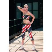 Leggings med mönster America från Trasparenze multi-colour 1/2