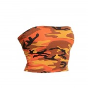ROTHCO | Top dámský TUBE ORANGE CAMO vel.L