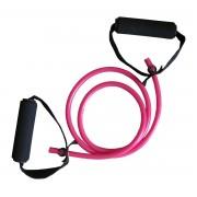 Coarda elastica fitness cu 2 manere pentru exercitii, 120cm