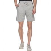 Vimal-Jonney Gray Cotton Blended Shorts For Men