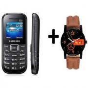 Refurbished Samsung Guru E1200 with (1 Year Warranty Bazaar Warranty )+MEN WATCH