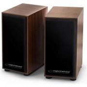 Boxe stereo lemn, EP122, model FOLK, 6 WATT, conectare USB ,4 ohm, fabricatie din lemn culoarea cires