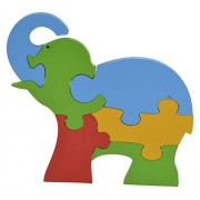 Skillofun Wooden Take Apart Baby Puzzle Large - Elephant, Multi Color