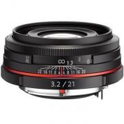 Pentax 21mm f/3.2 da hd al limited - nero - 2 anni di garanzia