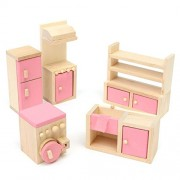 Kids House Play Wooden Children Doll Houses Toys(Kitchen) Price Give 2 Dolls For Free