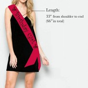 Birthday Girl Sash for Girls Birthday Decoration RED (1 Pcs)