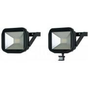 luceco LED SLIMLINE Flutlichtstrahler mit Bewegungsmelder - 22 Watt, 5000K, IP44