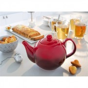 Théière tradition en céramique rouge 1 L