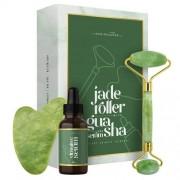 Eco Masters Jade Roller met Gua Sha schraper en vitamine C serum