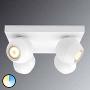 PHILIPS Spot LED blanc Philips Hue Buckram White Ambiance