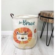 Container - Tas - Wasmand - Speelgoed mand - Leeuw
