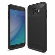 Caso de la fibra de carbono del dibujo del alambre de dayspirit TPU para Samsung Galaxy C5 pro