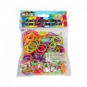 Fun Trading Funky szilikon karkötő készítő, 300 db - vegyes színek