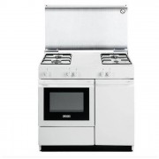 DeLonghi SGW854N Cucina 86cm 4 Fuochi a Gas Forno Gas Linea Smart Bianco