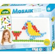 SET CREATIV MOZAIC MULTICOLOR 100 PIESE 1 CM PENTRU COPII CU TABLITA MODELE - LENA (LE35603)