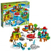 LEGO Duplo Town Around The World Building Blocks for Kids 2 to 5 Years (163 Pcs)10805