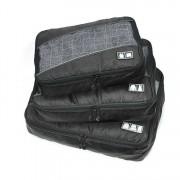 Edge Travel [3 Pack] Packing Cubes Bag Black