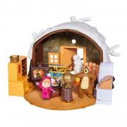 Simba Playset Casa Del Oso Con Nieve 2 Figuras Y Accesorios De Masha Y El Oso Simba