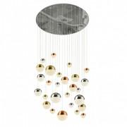 Lustra design modern cu 27 pendule LED Planets 27 4527-27 SRT