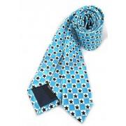 Krawat niebieski w gwiazdki - SZACHOWNICA