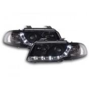 FK-Automotive fari Daylight a LED con DRL look Audi A4 B5 8D anno di costr. 95-99 neri