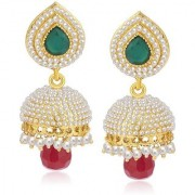 Jewels Gold Party Wear Fashion Designer Unique Latest Traditional Multi Color Jhumki Earring Set For Women Girls