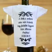 Egyedi borosüveg póló