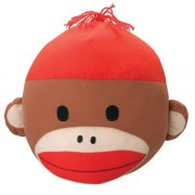 """Patch Products Sock Monkey 10.5"""" Plush Head"""