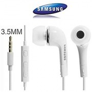 Samsung Galaxy Grand / Galaxy Grand Prime Earplug WIth Mic Earphones Headset With Deep Bass And Music Equalizer (White/Black)