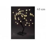 48 LEDes melegfehér világító fa karácsonyi dekoráció 45 cm