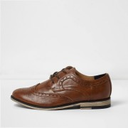 River Island Mens Boys Tan brogues (c11)