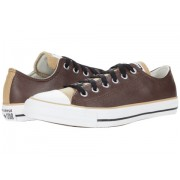 Converse Chuck Taylor All Star Three-Color Leather Ox Dark RootNomad KhakiWhite