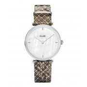 CLUSE Horloges Triomphe Silver Colored White Pearl Grijs