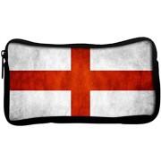 Snoogg England Flag Poly Canvas Student Pen Pencil Case Coin Purse Utility Pouch Cosmetic Makeup Bag