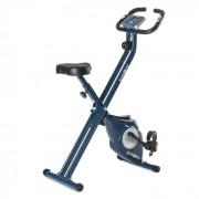 KLARFIT Azura Vélo d'appartement en X de 3 kg charge 100 kg max pulsomètre – bleu