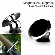 Универсална магнитна стойка за автомобил 'Ball style' (черна)