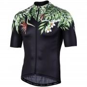Nalini Centenario Short Sleeve Jersey - XXL - Black/Green