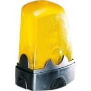 > Lampeggiatore giallo a led per automatismi 230V