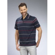 Poloshirt gestreift, Farbe marine, Gr.L