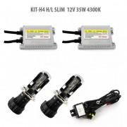 Kit Xenon H4 H/L SLIM 12V 35W 4300K, Carguard