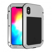 LOVE MEI for iPhone XS Max 6.5 inch Shockproof Dust-proof Defender Phone Shell - Silver