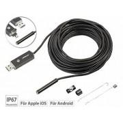 USB-HD-Endoskop-Kamera für PC und OTG-Android-Smartphone, 10 m, IP67 | Endoskop Kamera