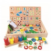 Joc educativ din lemn montessori Donuts number-crunching