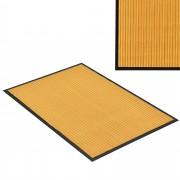 [en.casa] Felpudo atrapasuciedad alfombra de entrada felpudo para puerta color mostaza 90 x 60 cm
