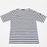 ≪SAINT JAMES≫PIRIAC半袖Tシャツ(NEIGE/MARINE)[さっぽ店からの発送]