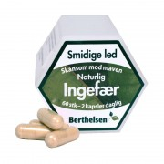 Berthelsen Ren Ingefær 400 mg - Vegetabilsk 60 kapsler Dietary Supplements