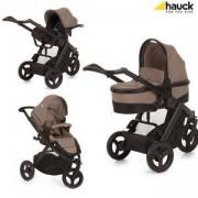 Бебешка комбинирана количка 3 в 1 - Maxan 3 Plus Trio Set Melange Sand, Hauck, 403112