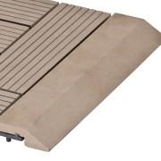 Hnědá dřevoplastová WPC rovná ukončovací lišta pro dlaždice Palmyra a Samoa - délka 30 cm a šířka 7,5 cm