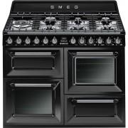 Aragaz SMEG Victoria TR4110BL1, 110X60cm, 7 arzatoare, cuptor triplu electric, timer, aprindere electronica, negru