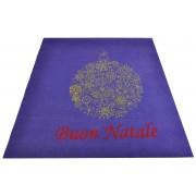Tappeto viola Buon Natale passatoia 100x120 cm. V1Bis